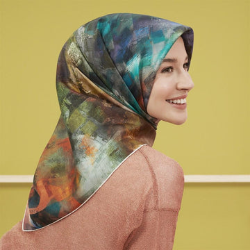 Armine Columbia Colourful Silk Scarf No. 86 Silk Hijabs,Armine Armine
