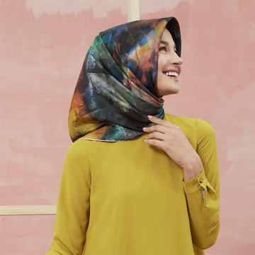 Armine Columbia Colourful Silk Scarf No. 87 Silk Hijabs,Armine Armine