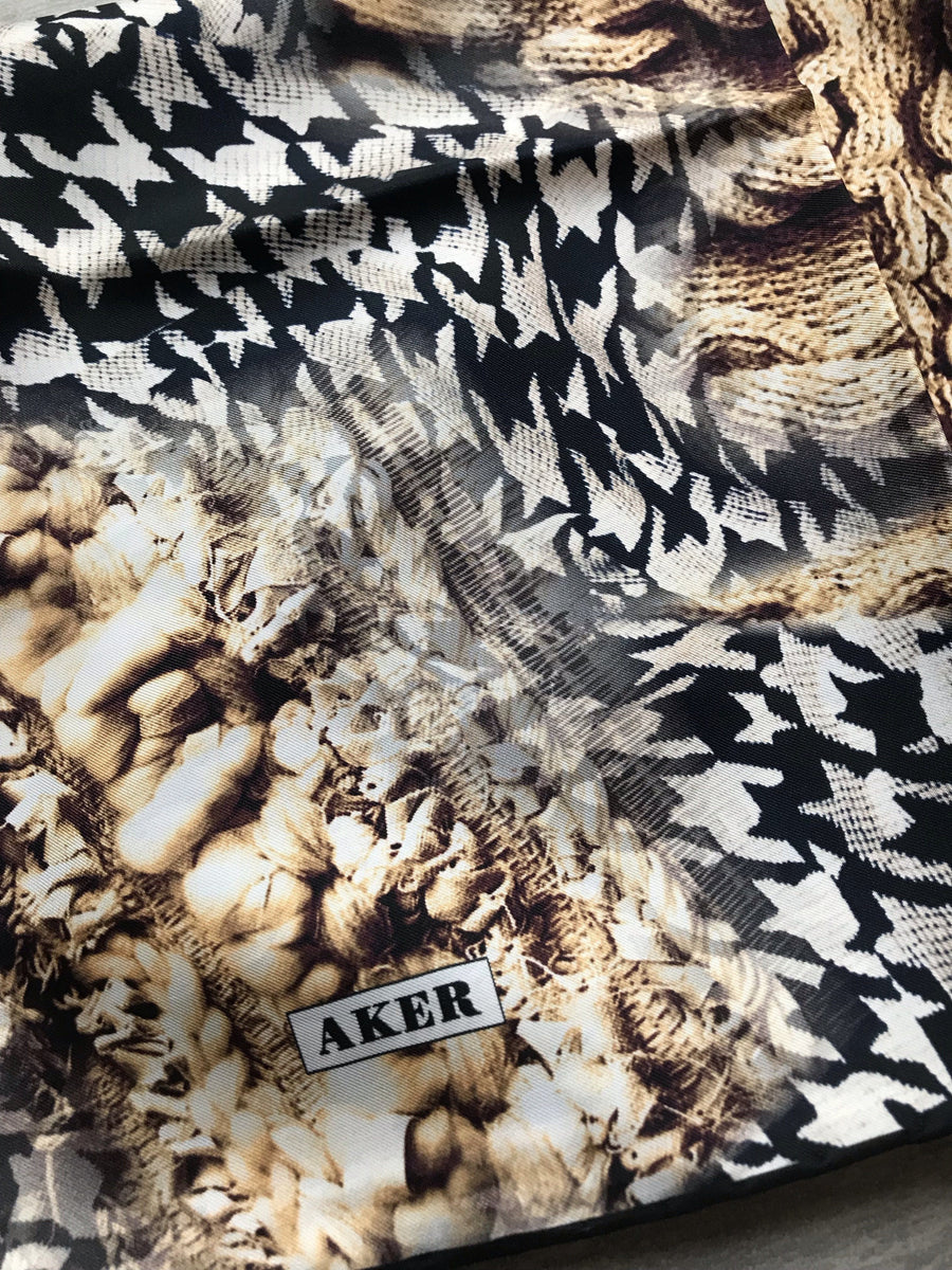 Aker : A Mother's Love Turkish Silk Hijab Aker,Silk Scarves Aker