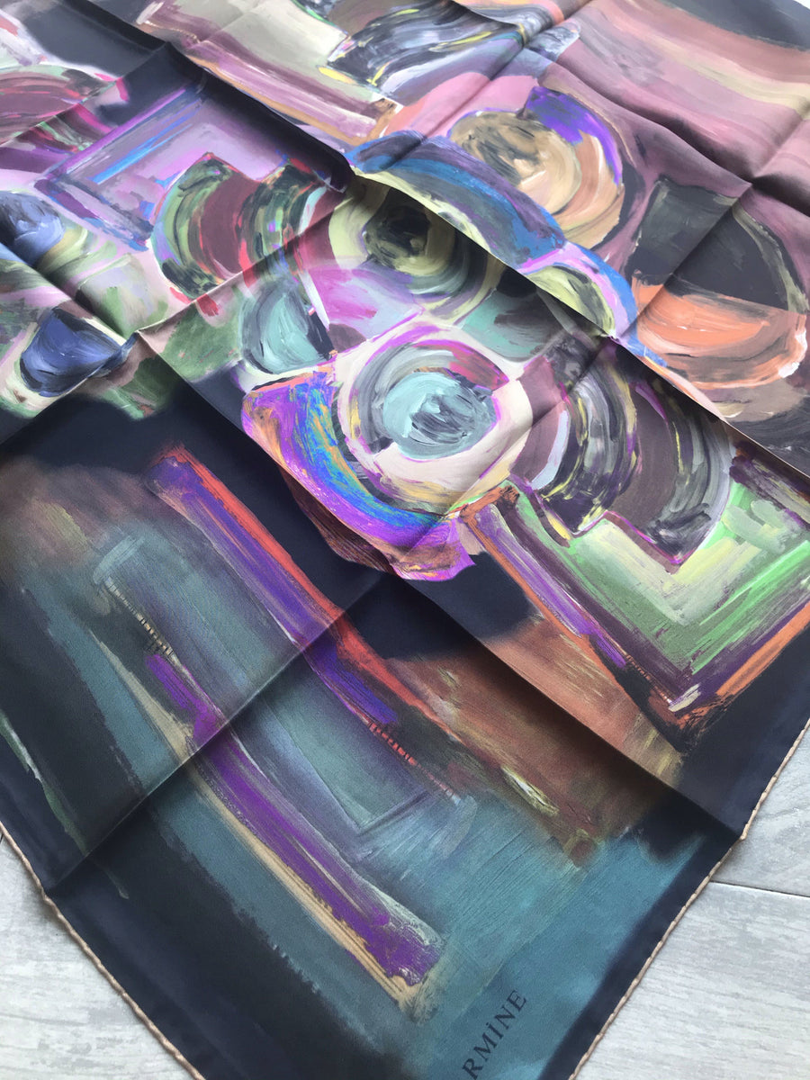 Armine Turkish Silk Scarves Electric Prism 31 Silk Hijabs,Armine Armine