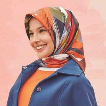 Armine Grafitti Stylish Silk Scarf No.80 Silk Hijabs,Armine Armine