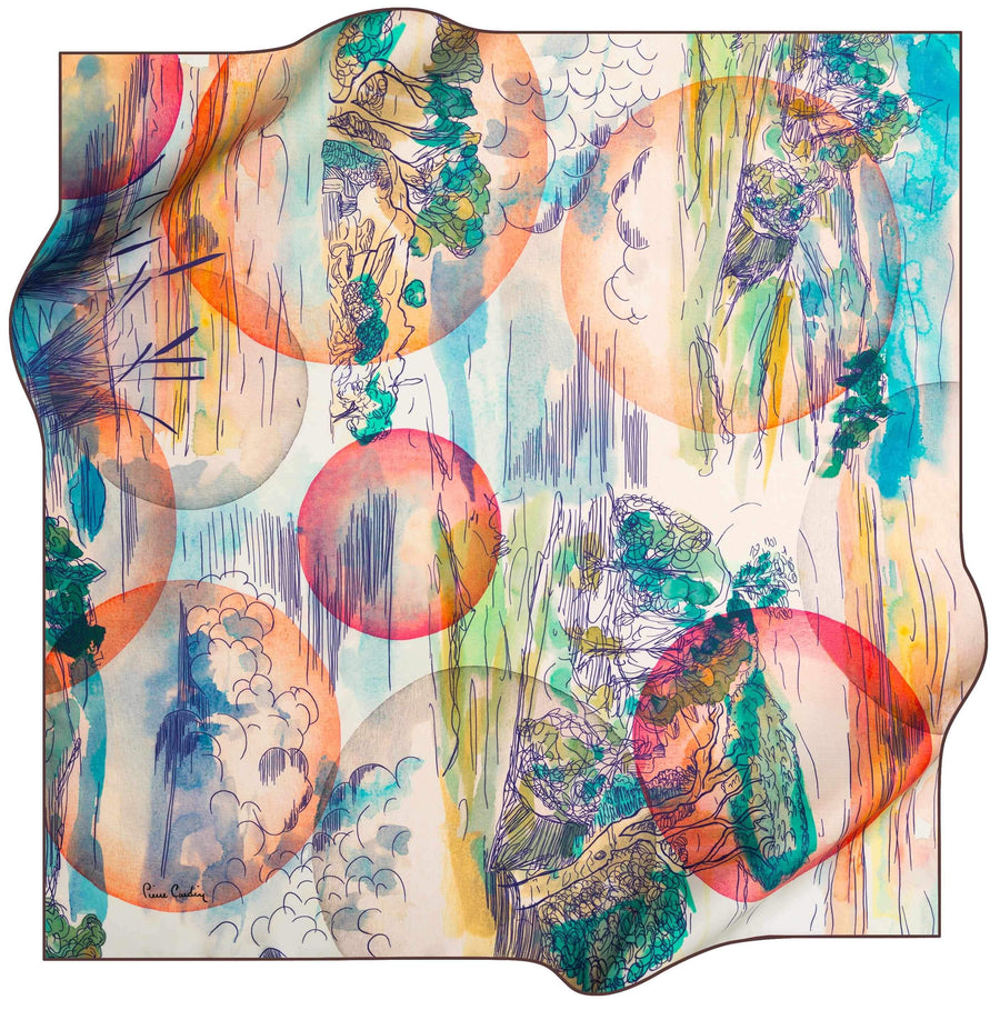 Pierre Cardin Limited Edition Scarf Dreamscape No. 31 Pierre Cardin,Silk Scarves Pierre Cardin