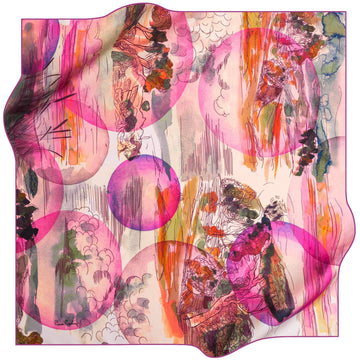 Pierre Cardin Limited Edition Scarf Dreamscape No. 91 Pierre Cardin,Silk Scarves Pierre Cardin