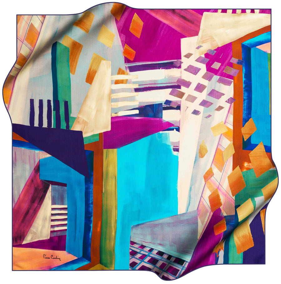 Pierre Cardin Stylish Foulard Abstracta No. 21 Pierre Cardin,Silk Scarves Pierre Cardin