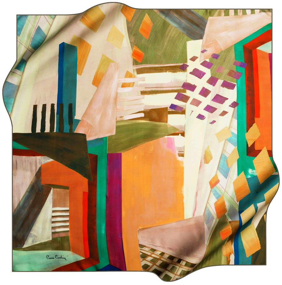 Pierre Cardin Stylish Foulard Abstracta No. 51 Pierre Cardin,Silk Scarves Pierre Cardin