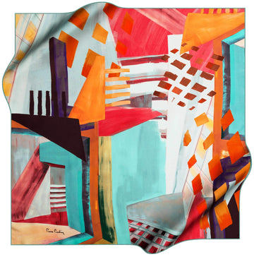 Pierre Cardin Stylish Foulard Abstracta No. 52 Pierre Cardin,Silk Scarves Pierre Cardin