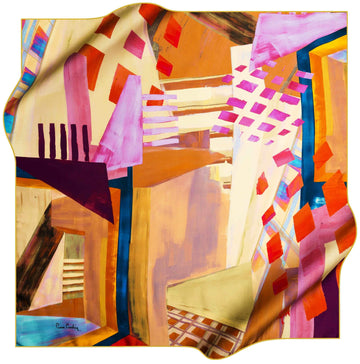 Pierre Cardin Stylish Foulard Abstracta No. 61 Pierre Cardin,Silk Scarves Pierre Cardin