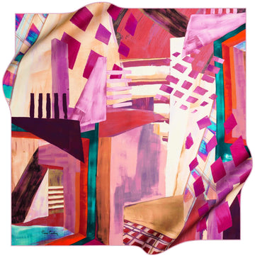 Pierre Cardin Stylish Foulard Abstracta No. 91 Pierre Cardin,Silk Scarves Pierre Cardin
