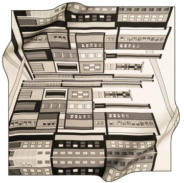 Pierre Cardin Luxury Silk Scarves Cityscape No. 11 Pierre Cardin,Silk Scarves Pierre Cardin