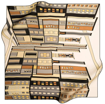 Pierre Cardin Luxury Silk Scarves Cityscape No. 12 Pierre Cardin,Silk Scarves Pierre Cardin