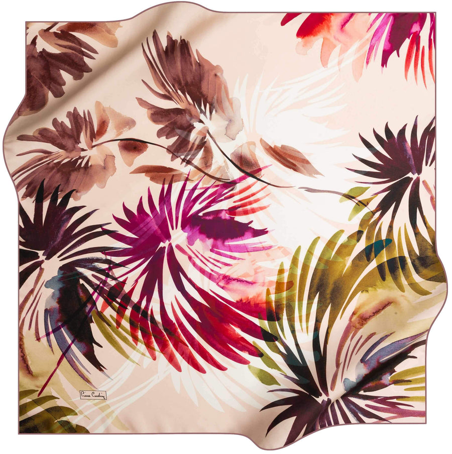 Pierre Cardin Stylish Silk Wrap Tropics 91 Pierre Cardin,Silk Scarves Pierre Cardin