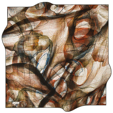 Pierre Cardin Vibrant Turkish Silk Scarf No. 11 Pierre Cardin,Silk Scarves Pierre Cardin