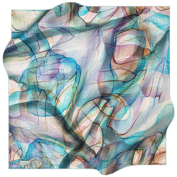 Pierre Cardin Vibrant Turkish Silk Scarf No. 22 Pierre Cardin,Silk Scarves Pierre Cardin