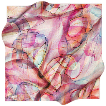 Pierre Cardin Vibrant Turkish Silk Scarf No. 91 Pierre Cardin,Silk Scarves Pierre Cardin