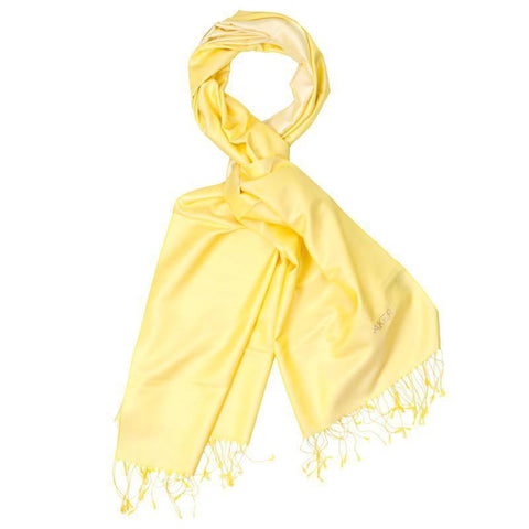 Aker's Stylish Yellow Silk Shawl