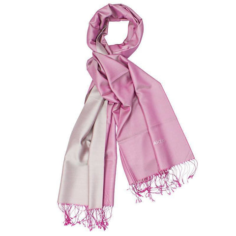 Aker's Women Gergeous Pink Silk Shawl