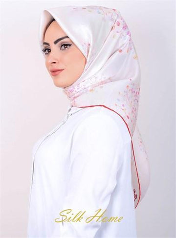Silk Home : Perfect for Wedding Silk Hijab Scarf from Turkey Silk Home Silk Home