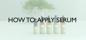 How to apply serum image