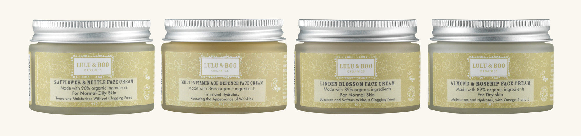 Lulu & Boo Vegan Face Cream Range