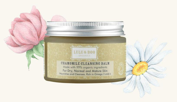 Chamomile Cleansing Balm with flowers
