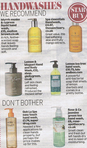 Lemon Tea-Tree Hand Wash in The Daily Mail