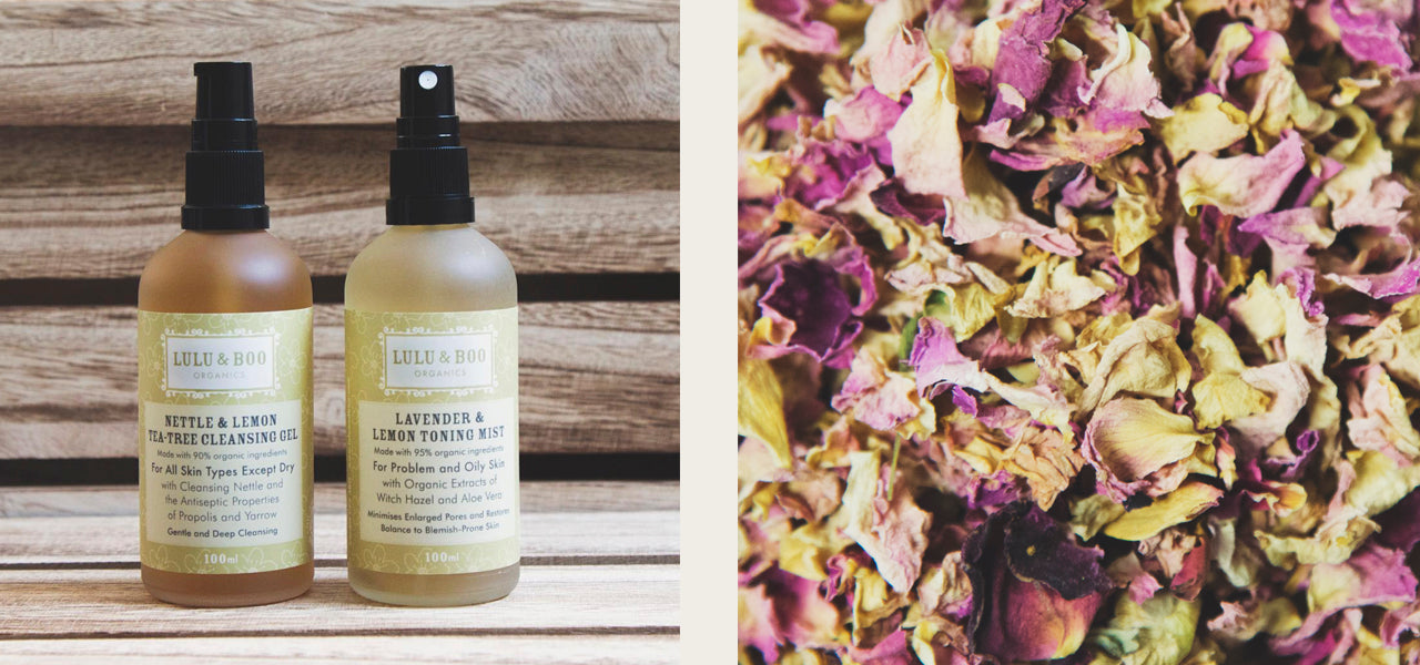 Nettle & Lemon Tea Tree Cleansing Gel and Lavender & Lemon Toning Mist