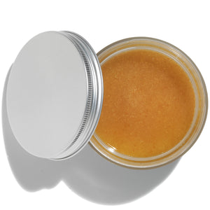 Vanilla Sugar Organic Body Scrub Open Jar