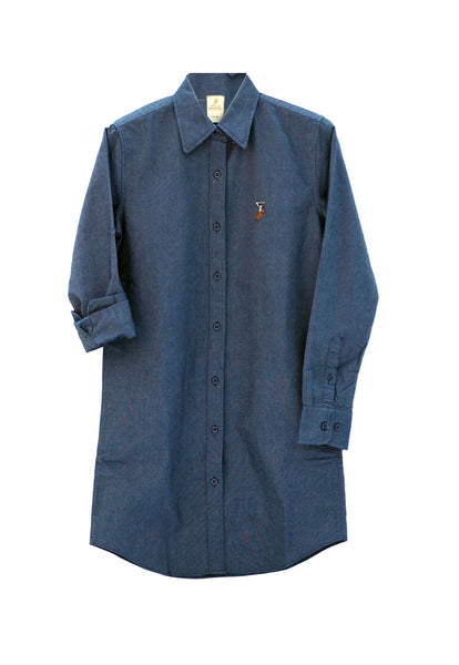 Polo Haus -Ladies Shirt Dress Long Sleeves (DENIM)