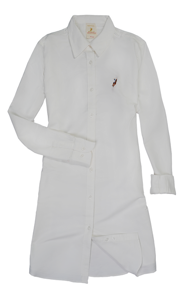 Polo Haus -Ladies Shirt Dress Long Sleeves (OFF WHITE)