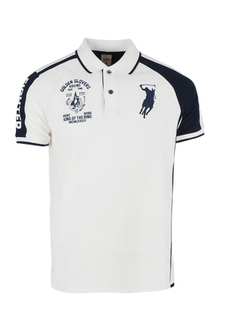 Polo Haus - Boxing Range - Fighter Collar Tee (Beige Blue)