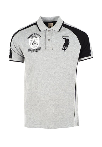 Polo Haus - Boxing Range - Fighter Collar Tee (Grey Black)