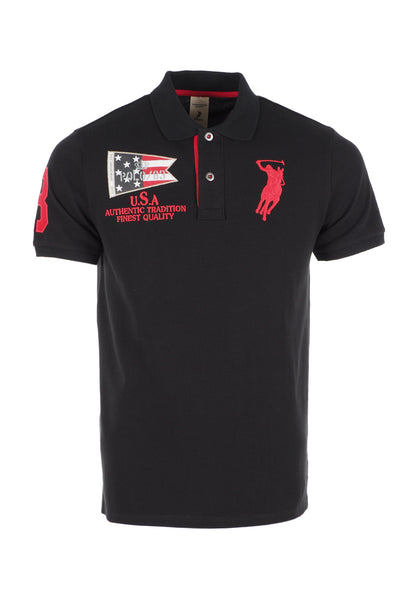 Polo Haus - Boxing Range - USA Fighters Collar Tee (Black)