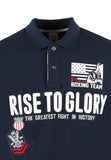 Polo Haus - Boxing Range - Rise To Glory Collar Tee (Dark Blue)