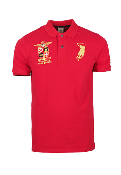 Polo Haus - Old Classic Style Design S/S Collar Tee (Red)