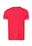 Polo Haus - Side Seam With 3 Colors Cotton Tape S/S Collar Tee (Red)