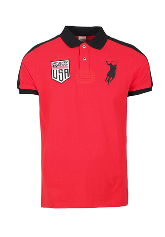 Polo Haus - USA Authentic Design S/S Collar Tee (Red)