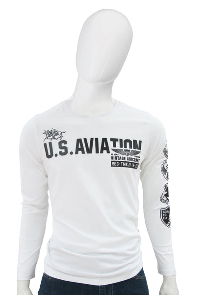 Polo Haus - UA Aviation L/S RN Tee (Beige)