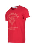 Polo Haus - Crouching Tiger Graphic Printed S/S RN Tee (Red)