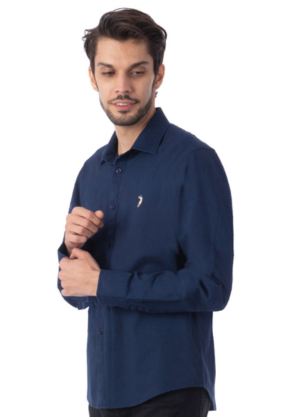 Polo Haus - Solid Color L/S Shirt (Dark Blue)