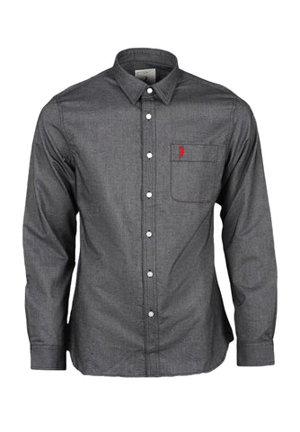 Polo Haus - Signature Oxford L/S Shirt With Pocket (Black)