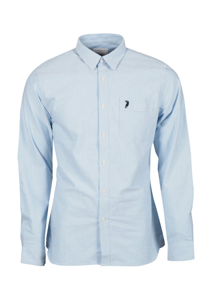 Polo Haus - Signature Oxford L/S Shirt With Pocket (Blue)