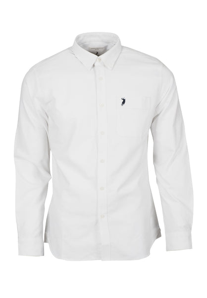 Polo Haus - Signature Oxford L/S Shirt With Pocket (White)