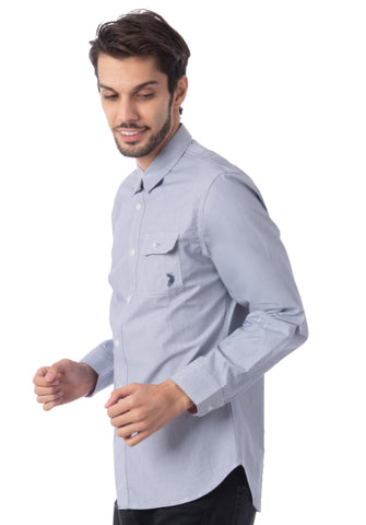 Polo Haus - Mini Stripe L/S Shirt With Pocket (Dark Blue)