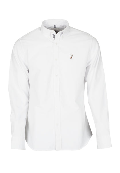 Polo Haus - Solid Color L/S Shirt With Cotton Tape (White)