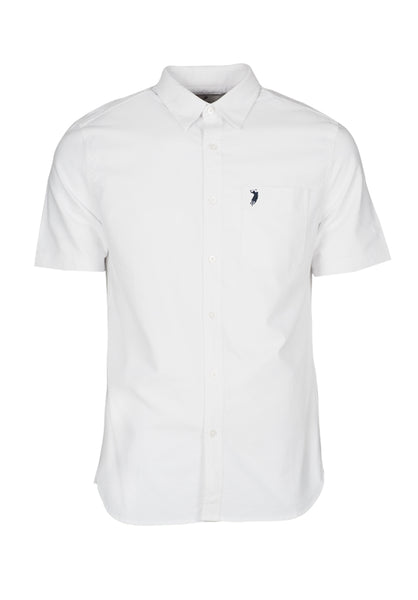 Polo Haus - Signature Oxford S/S Shirt With Pocket (White)