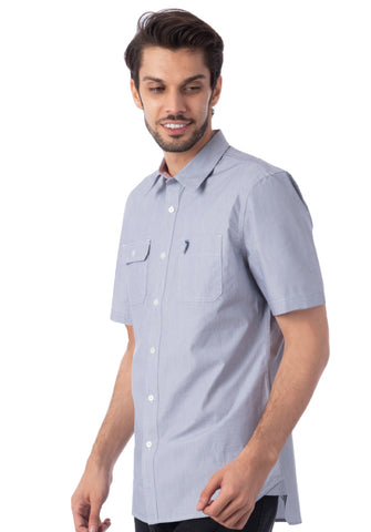 Polo Haus - Mini Stripe S/S Shirt With Pocket (Dark Blue)