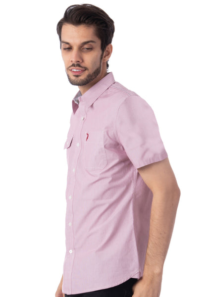 Polo Haus - Mini Stripe S/S Shirt With Pocket (Red)