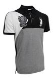 Polo Haus - Black & White Range Vintage Heritage on Sleeve Collar Tee (Black)