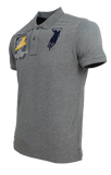 Polo Haus - Vintage + 3 on Sleeve Collar Tee (Grey Melange)