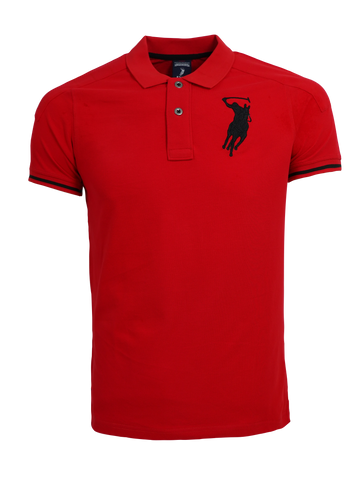 Polo Haus - Vintage & 3 on Back Collar Tee (Red)